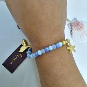 Sea star charm bracelet. whale tail charm bracelet